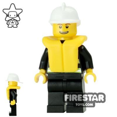 LEGO City Mini Figure – Fire - Life Jacket 6