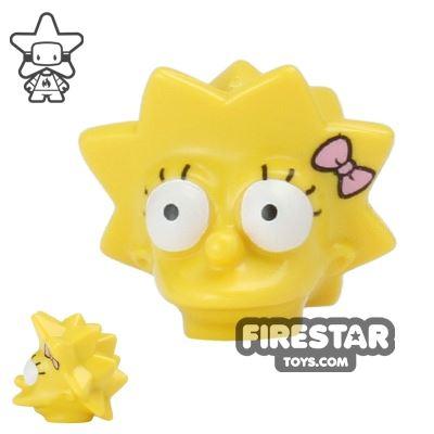 LEGO Mini Figure Heads - The Simpsons - Lisa Simpson with Bow