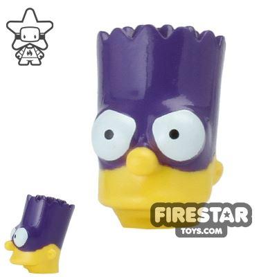 LEGO Mini Figure Heads - The Simpsons - Bart with Batman Mask