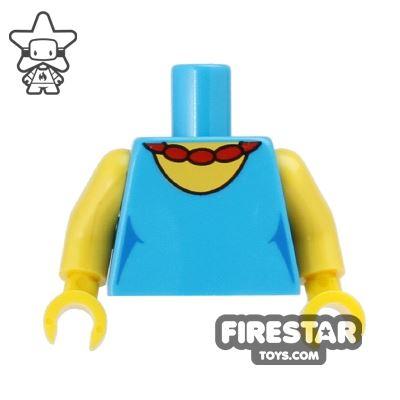LEGO Mini Figure Torso - The Simpsons - Selma - Red Necklace