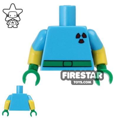 LEGO Mini Figure Torso - The Simpsons - Milhouse - Fallout Boy Outfit