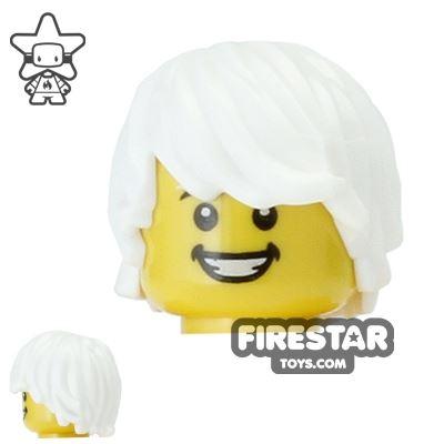 LEGO Hair - Choppy - White