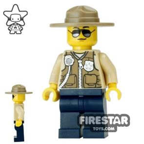 LEGO City Mini Figure - Swamp Police - Officer with Hat