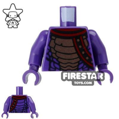 LEGO Mini Figure Torso - Ninjago - Purple with Snake Scales