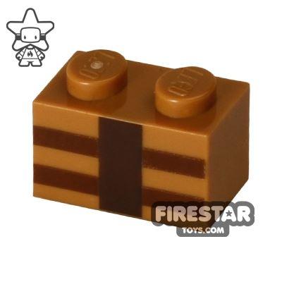 Printed Brick 1x2 - Minecraft Brick