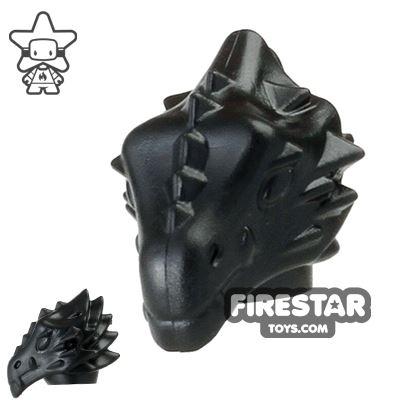BrickWarriors - Dragonman Head - Black