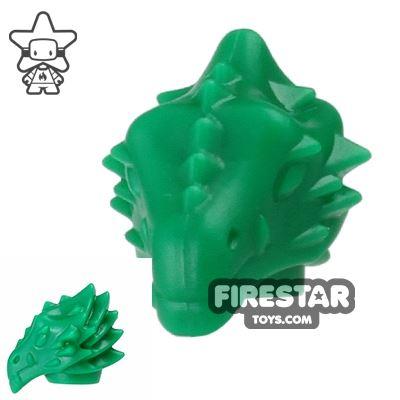 BrickWarriors - Dragonman Head - Green