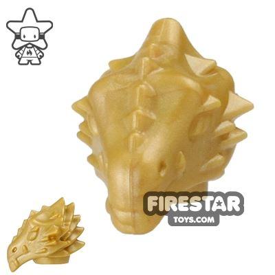 BrickWarriors - Dragonman Head - Gold