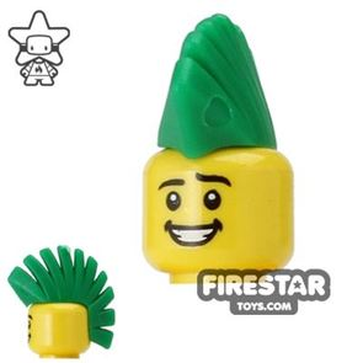 BrickWarriors Hair - Mohawk - Green