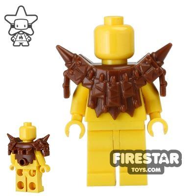 BrickWarriors - Lizardman Armour - Brown