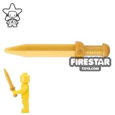 LEGO - Roman Gladius - Thin Crossguard - Pearl Gold