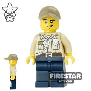 LEGO City Mini Figure - Swamp Police - Officer with Cap