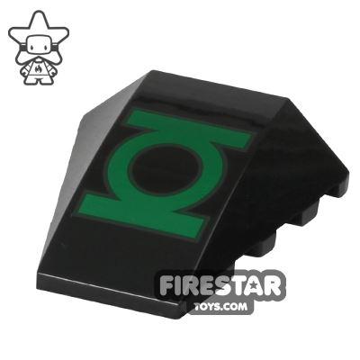 Printed Slope 4x4 - Green Lantern Logo