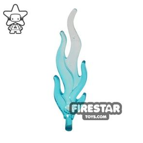 LEGO Giant Flame - Trans Light Blue and White