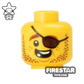 LEGO Mini Figure Heads - Eyepatch - Missing Tooth