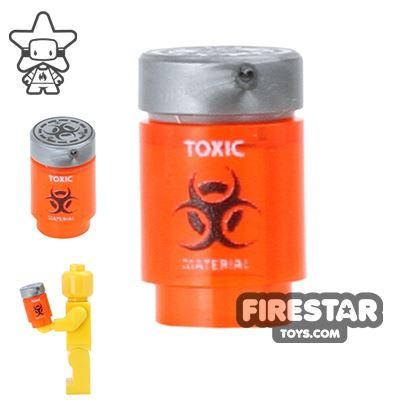 Custom Design - Bio Chem Canister - Trans Neon Orange