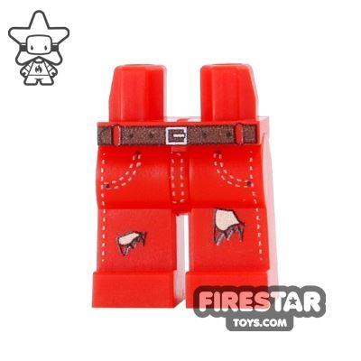 Custom Design Legs - Ripped Jeans - Red
