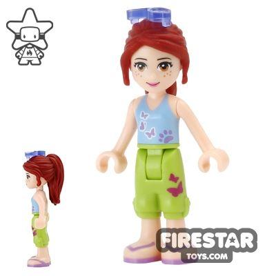 LEGO Friends Mini Figure - Mia - Cropped Trousers and Sunglasses