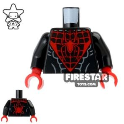LEGO Mini Figure Torso - Spider Man - Black