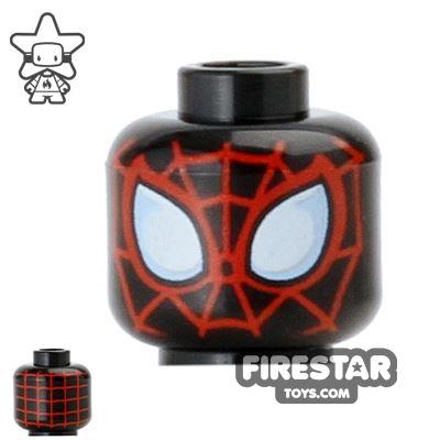 LEGO Mini Figure Heads - Spider Man - Black