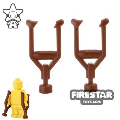 BrickWarriors - Crutches - Brown