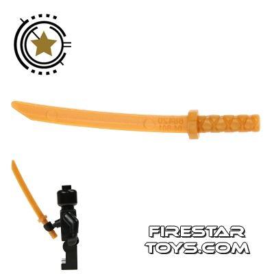 LEGO - Ninja Samurai Sword - Octagonal Guard - Pearl Gold