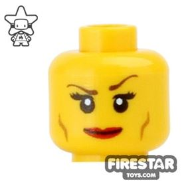 Custom Mini Figure Heads - Smile - Yellow