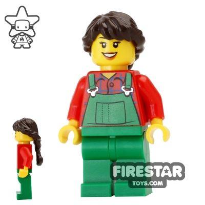 LEGO Holiday Mini Figure - Farmer - Braided Hair