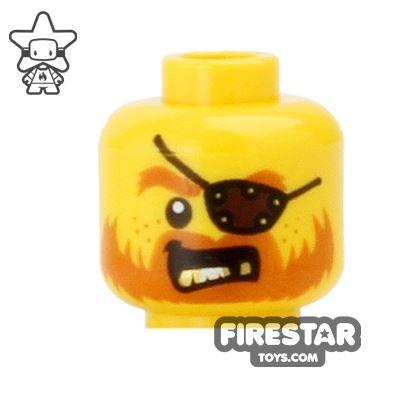 LEGO Mini Figure Heads - Eyepatch and Gold Teeth