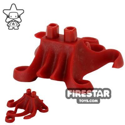 LEGO Mini Figure Legs - Squid Tentacles - Dark Red