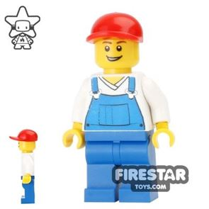 LEGO Holiday Mini Figure - Overalls and Red Cap