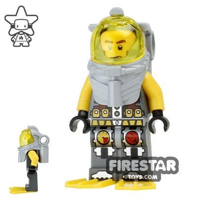 LEGO Atlantis Mini Figure - Axel - Yellow Flippers