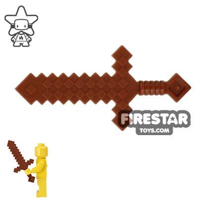LEGO - Minecraft Sword - Reddish Brown