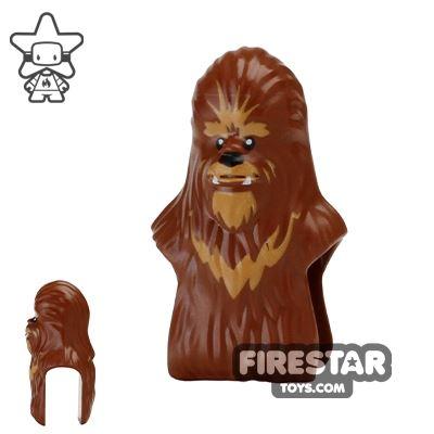 LEGO Mini Figure Heads - Wookie - Reddish Brown