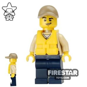 LEGO City Mini Figure - Swamp Police - Officer with Life Jacket