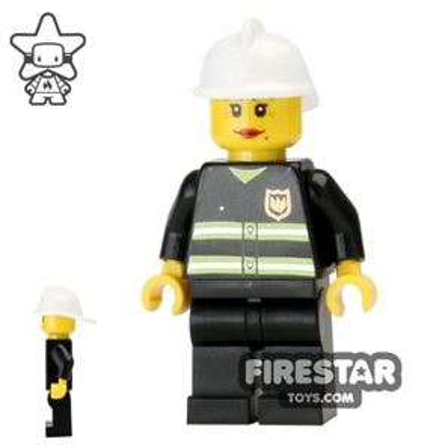 LEGO City Mini Figure – Fire - Reflective Stripes