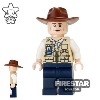 LEGO Jurassic World Figure - Vet - Fedora Hat