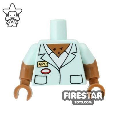 LEGO Mini Figure Torso - The Simpsons - Apu Name Tag
