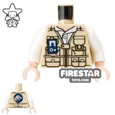 LEGO Mini Figure Torso - Utility Jacket with T-Rex Logo