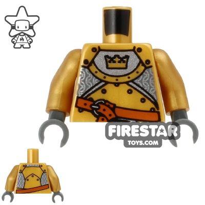 LEGO Mini Figure Torso - Gold Knight Armour