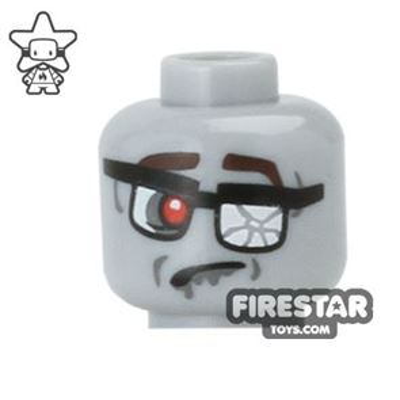 LEGO Mini Figure Heads - Zombie Businessman