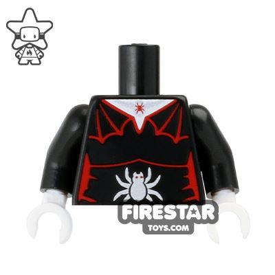 LEGO Mini Figure Torso - Vampire - Spider Corset
