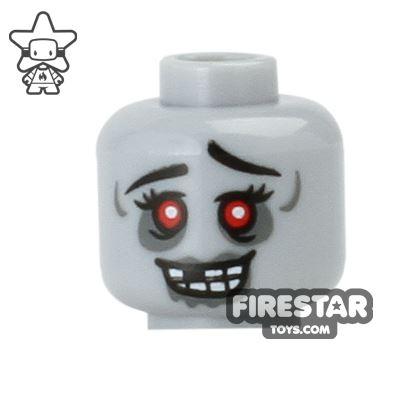 LEGO Mini Figure Heads - Zombie Cheerleader