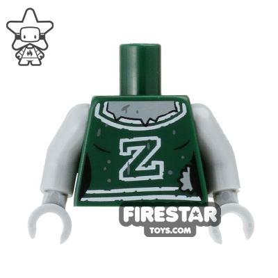 LEGO Mini Figure Torso - Zombie Cheerleader
