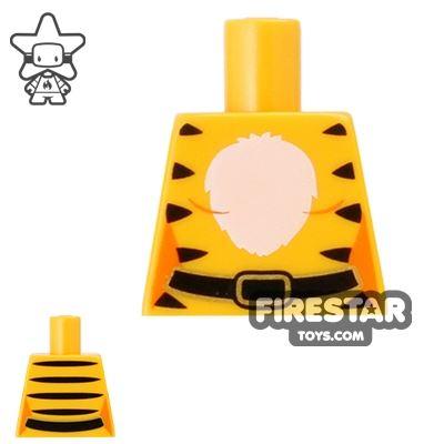 LEGO Mini Figure Torso - Tiger Outfit - No Arms