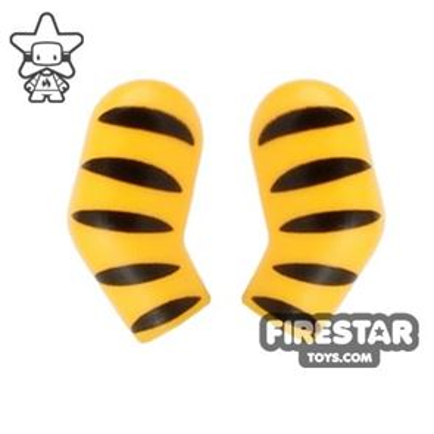 LEGO Mini Figure Arms - Pair - Tiger Stripes