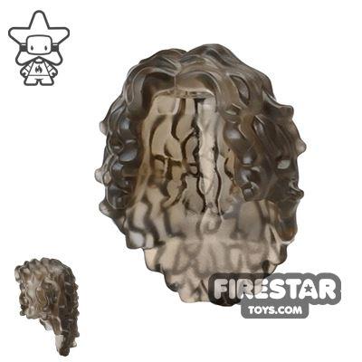 LEGO Hair - Long Curly - Trans Black