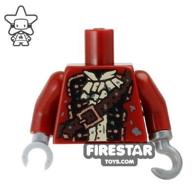 LEGO Mini Figure Torso - Zombie Pirate