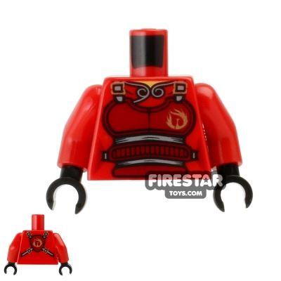 LEGO Mini Figure Torso - Ninjago - Red Flame Armour