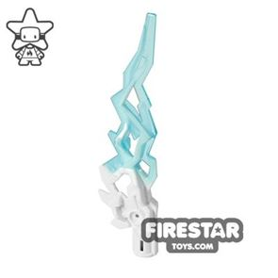 Lightning Bolt Flame - Trans Blue and White